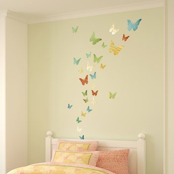 Fabric Butterfly Wall Stickers