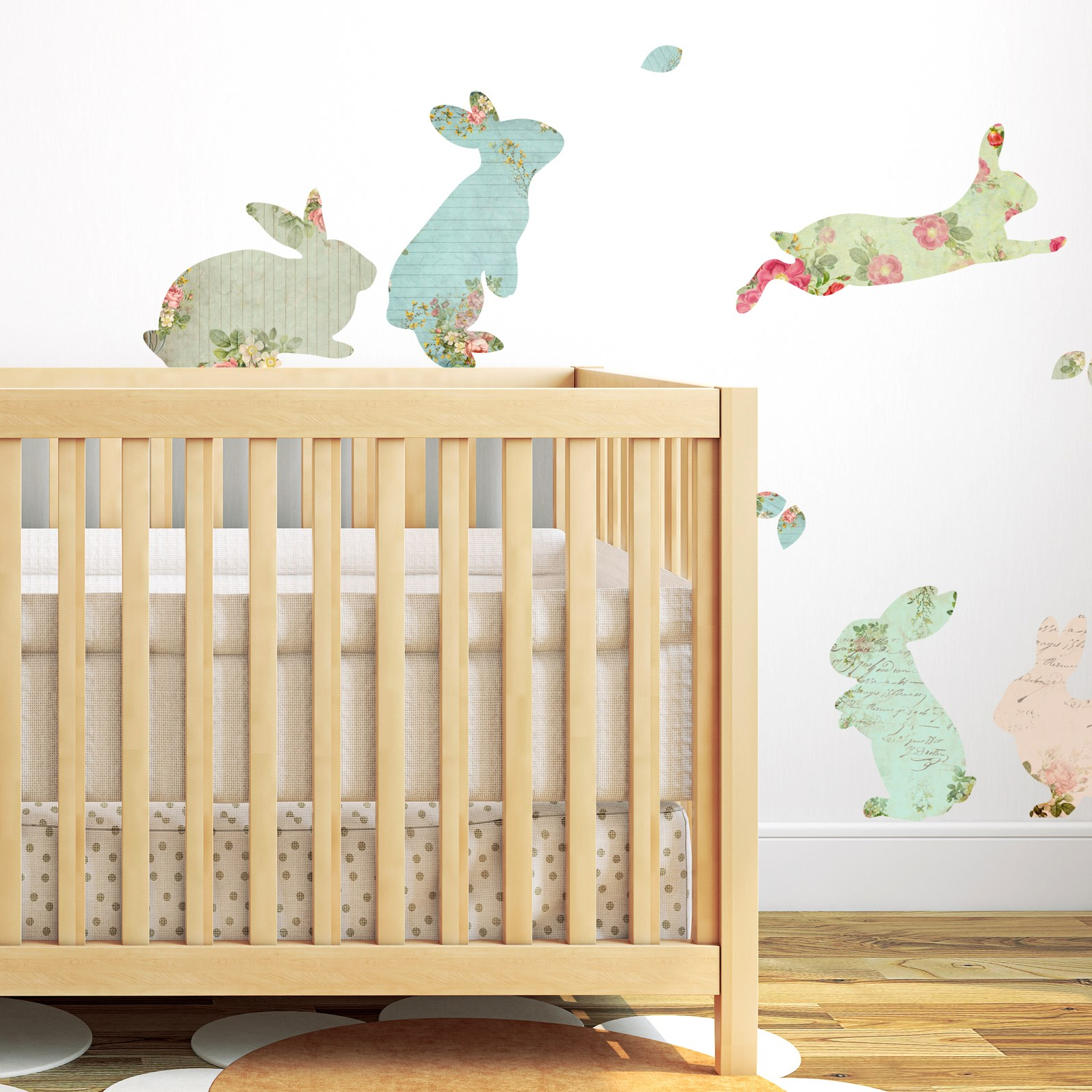Fabric Rabbit Wall Stickers