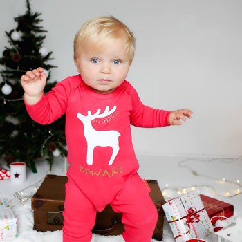 Personalised Baby Rudolf Rompersuit