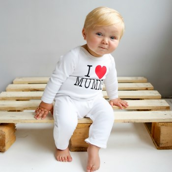 Personalised 'I Love Romper'