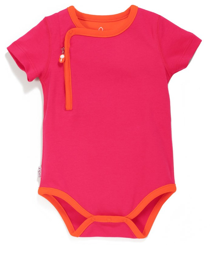 Zip Up Bodysuit - GIGGLE PINK/ORANGE