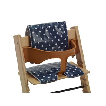 High Chair Cushions - Suitable for Tripp Trapp and Baby Dan High Chairs - Navy Star