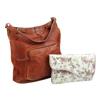 Oilcloth Mini Changing Bag - Wild Rose