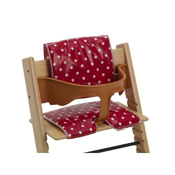 High Chair Cushions - Suitable for Tripp Trapp and Baby Dan High Chairs - Classic Red Star