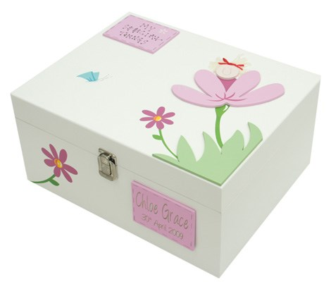 Flower Fairy Extra-Large Girls Keepsake Box