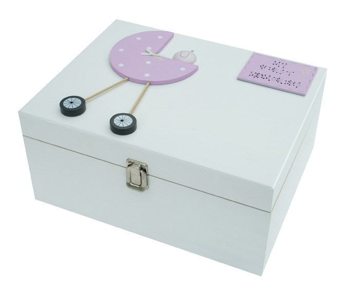 Baby Girl Extra-Large Personalised Wooden Box