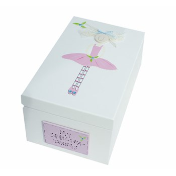 BALLERINA WOODEN KEEPSAKE BOX BS05