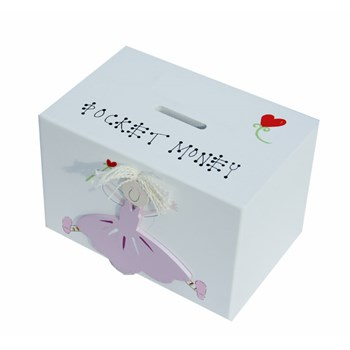 PINK FAIRY MONEY BOX BM02