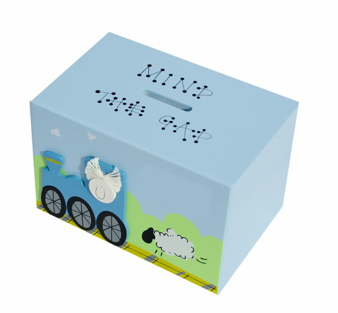 TRAIN WOODEN MONEY BOX BM03