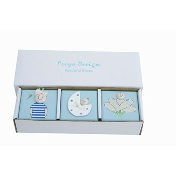SET OF 3 WOODEN BABY BOY TRINKET BOXES BT02