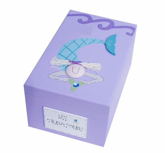MERMAID WOODEN KEEPSAKE BOX BS30
