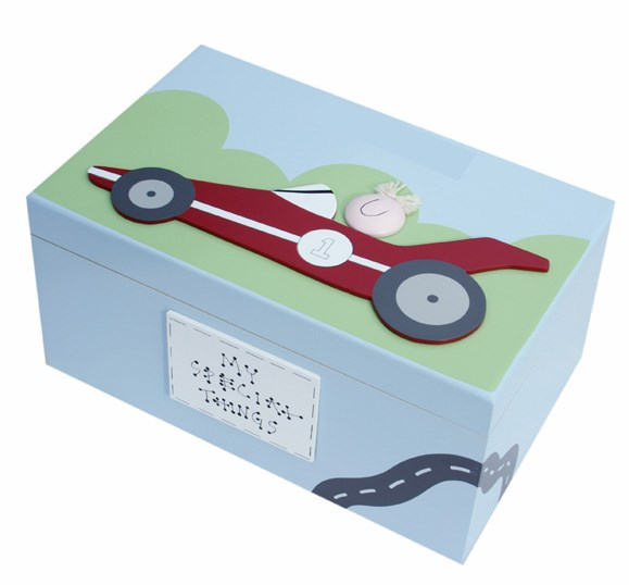 CAR WOODEN KEEPSAKE BOX BS17