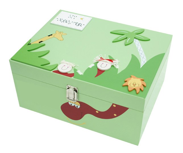PERSONALISED WOODEN JUNGLE MEMORY BOX BL09