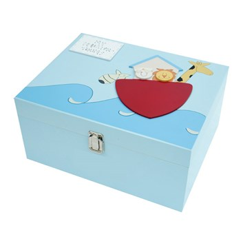PERSONALISED WOODEN ARK MEMORY BOX BL11