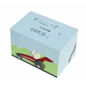 RACING CAR WOODEN MONEY BOX BM05