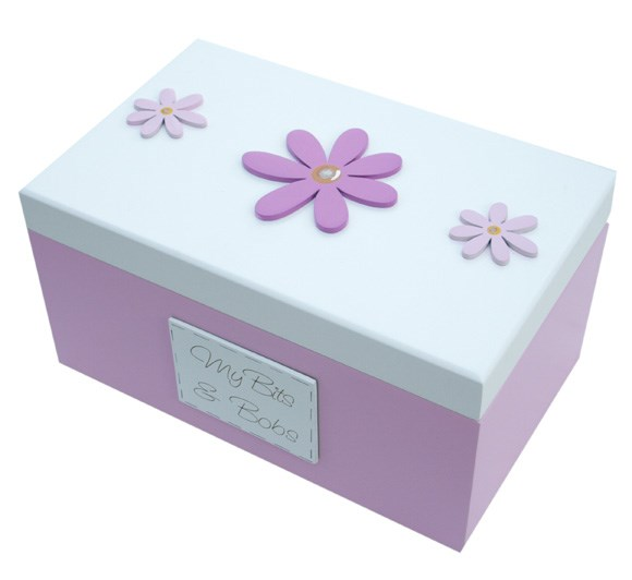 WOODEN DAISY SEWING AND CRAFT BOX BS04