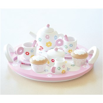 Wooden Flower Party Tea Set