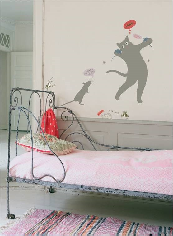 KidsLAB Cat & Mouse Wall Stickers