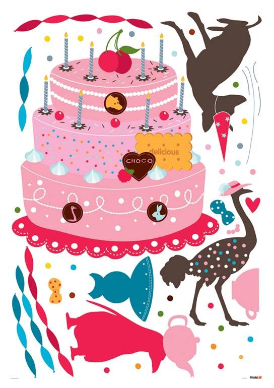 KidsLAB Party Cake Wall Stickers
