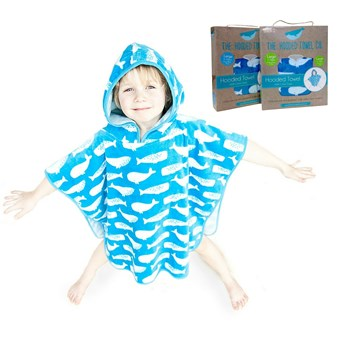 Super Soft And Thick Kids Hooded Poncho Towel For Boys And Girls Aged 1-6 years Small (60cm)