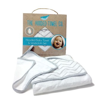 Large Baby Hooded Towel And Washcloth Set For Boys And Girls Ideal Newborn Baby Shower Gift Set