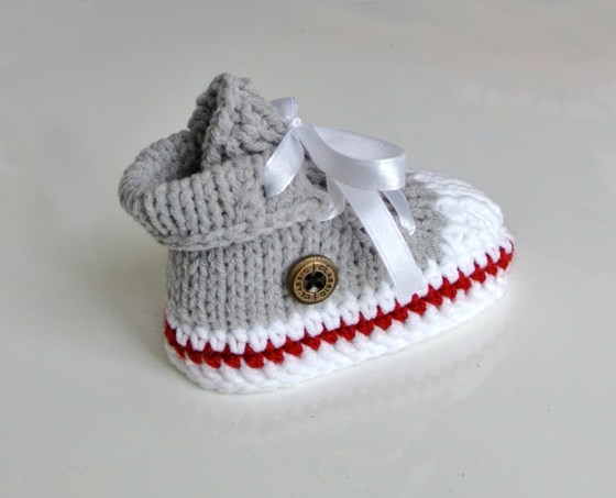 Knitted Baby Trainers