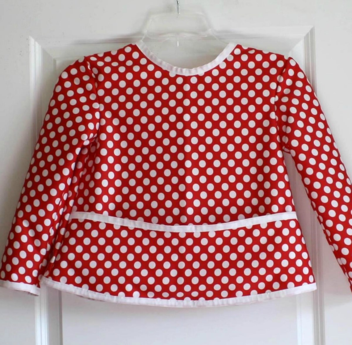 Red Dotty Art Smock