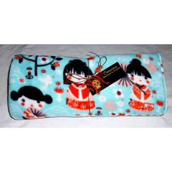 Little Geisha Fleece Blanket