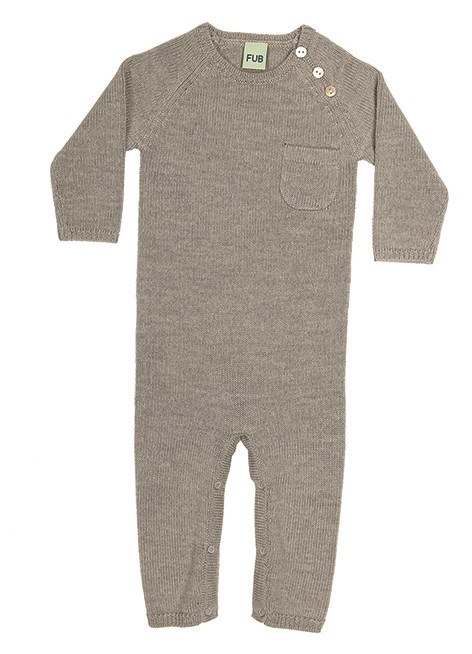 FUB Light Grey Fine Knit Romper