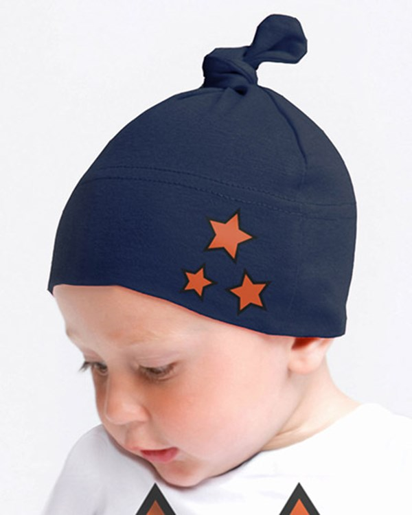 Weasel and Stoat Navy Hat with Stars