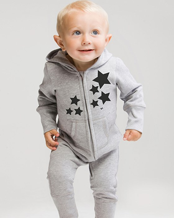 Weasel and Stoat Black Stars Onesie