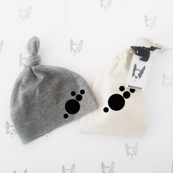 Weasel and Stoat Grey Marl Hat with Black Spots