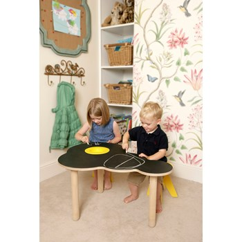 Cloud Chalkboard Table + Two Stools
