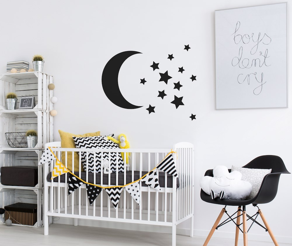 Moon and Stars sticker set