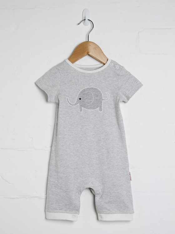Unisex Elephant Short Sleeve Playsuit