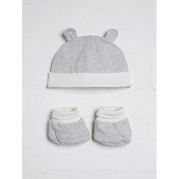 Unisex Ear Hat and Boots Set