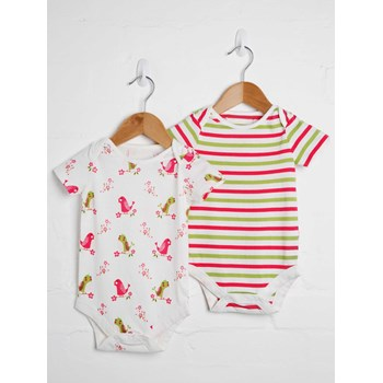 Girls 2 Pack Bodysuit
