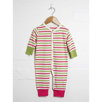 Stripe Button Down Babygrow