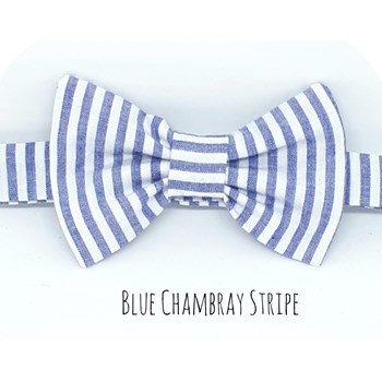 Boys Baby Bowtie Chambray Blue Striped Cotton Dickie Bowtie Striped Bowtie