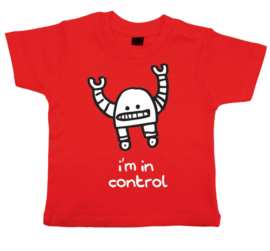 Kids cool robot t-shirt