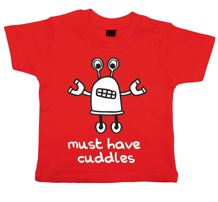 Cute cuddle robot t-shirt