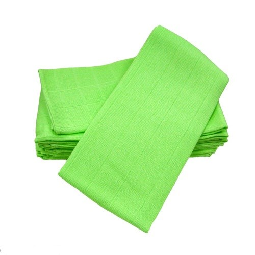 6 pack cotton Muslin Square -Lime
