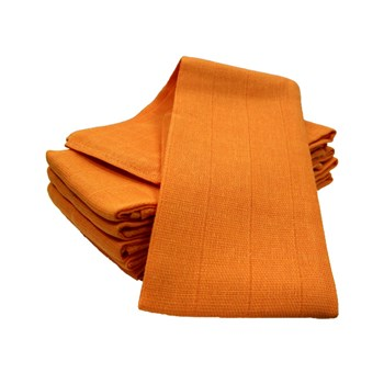 6 pack cotton Muslin Square -Tangerine