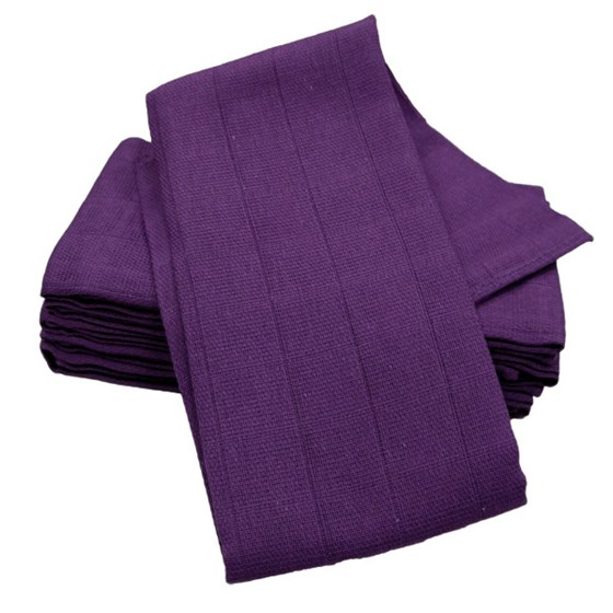 6 pack cotton Muslin Square- Purple