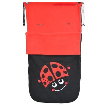 BUGGY SNUGGLE UNIVERSAL FOOTMUFF /COSY TOES LADYBIRD