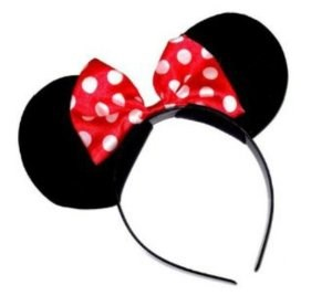 Minnie Mouse Ears head band red and White spots