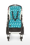 Outlook Universal Pram Pushchair Liner Turquoise Giraffe Design