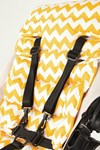 Outlook Universal Pram Pushchair Liner Yellow Cheveron Design Extra Long