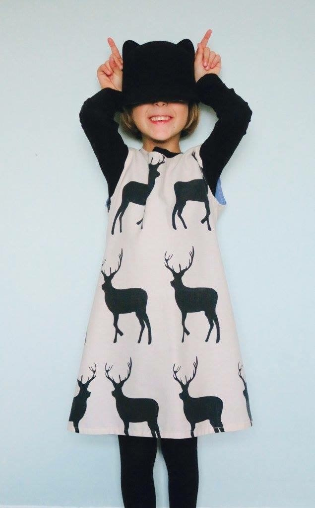 SALE Stag Print Dress Age 1-2
