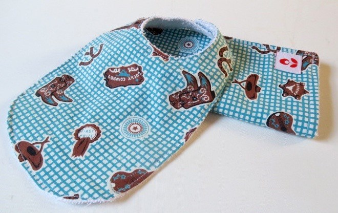 Bib & Burping Cloth Set